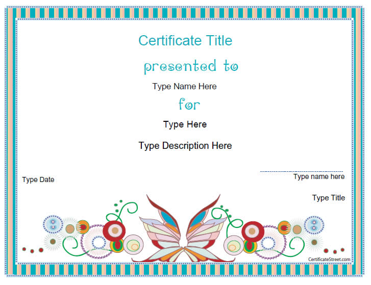 Blank certificate design joy studio design gallery for Certificate street templates blank