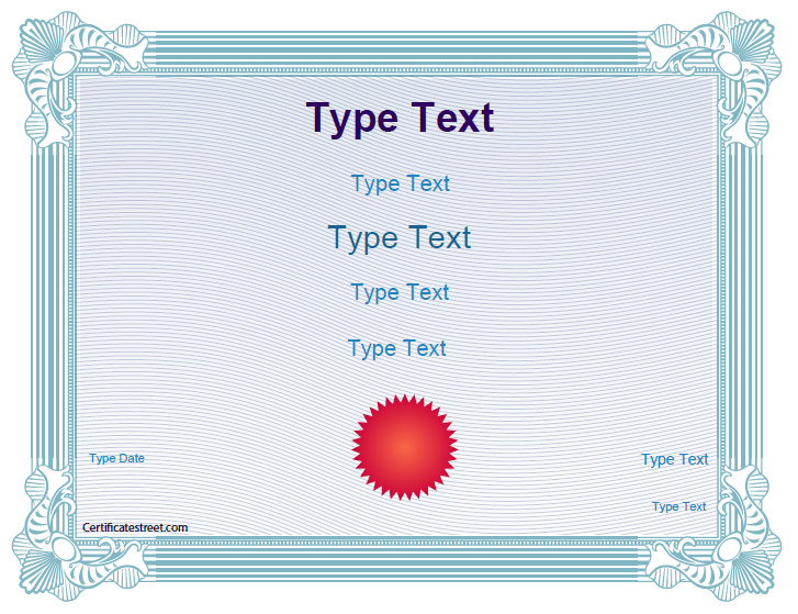 Blank certificates school award certificate template for Certificate street templates blank