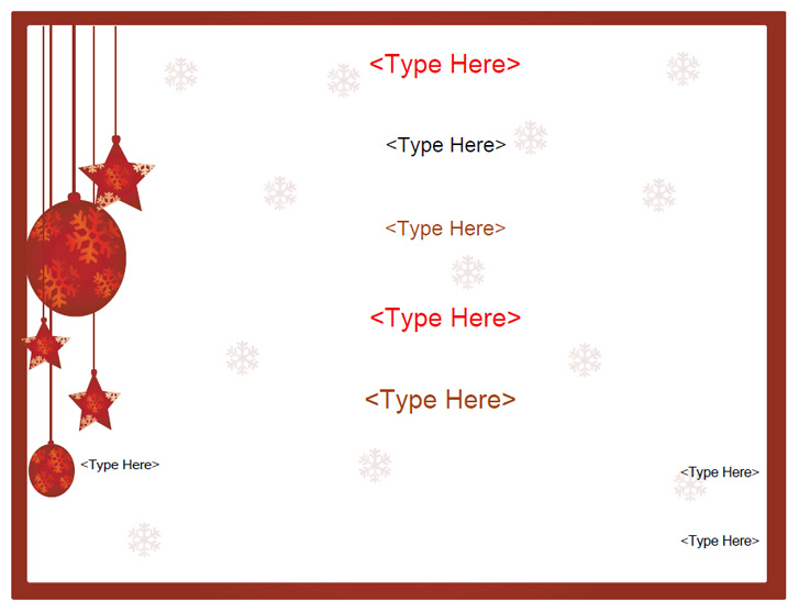 Blank Certificates - Holiday Gift Certificate Template MyAwardMaker ...