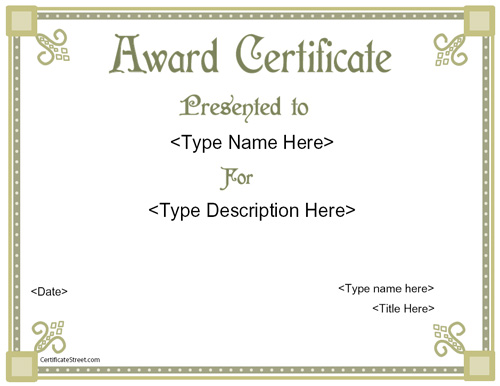 free printable appreciation certificate templates