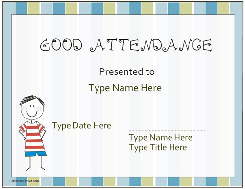 Doc960720 Attendance Certificates Free Templates Perfect – Attendance Certificates Printable