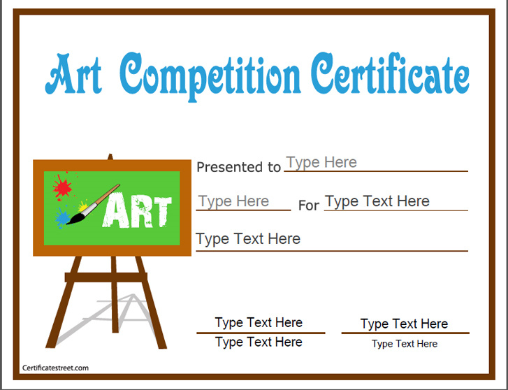 education certificates art competition certificate art