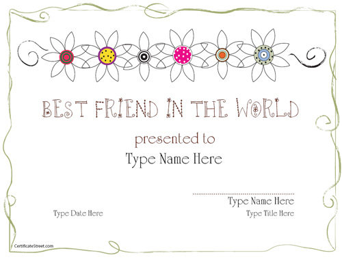 Blank Certificates  Page 6 of 26  Free Printable