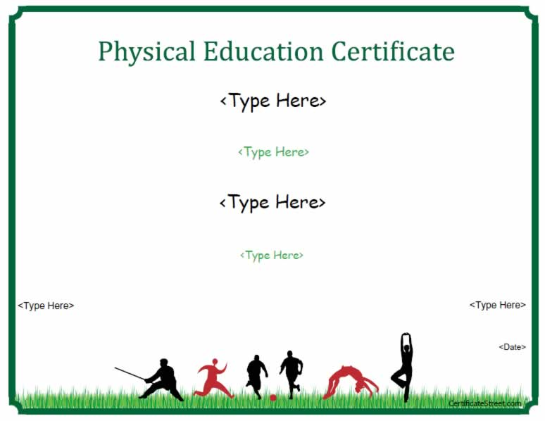 Sports Certificates U2013 Physical Education Certificate U2026