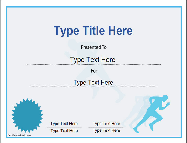 sports certificates certificate template for achievement